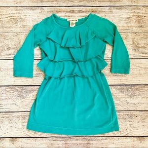 Anthem of the Ants Girls 3T Teal Ruffle Tier Dress